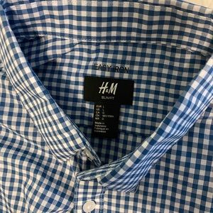 MEN'S Slim fit checkered dress shirt